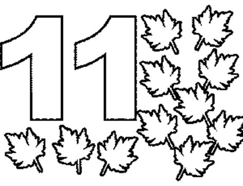 number 11 coloring page getcoloringpages com