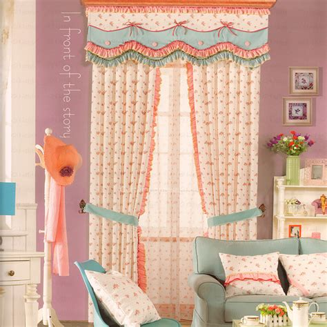 girls curtain rod printed girls room floral curtains 2016 new arrival no