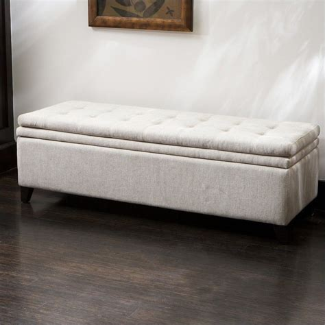 Ivory Storage Ottoman Trent Home Genevieve Storage Ottoman In Ivory 959232cy