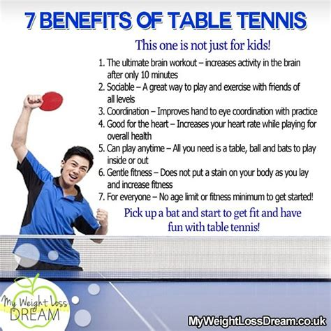 Table Tennis Techniques by The 7 Benefits Of Table Tennis This Is Not Just For