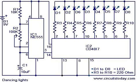 bi colour led running lights circuit diagram world circuit diagram of running led light circuit and