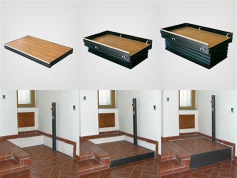 pedane mobili per disabili gradini mobili nuova rima soluzioni per elevare