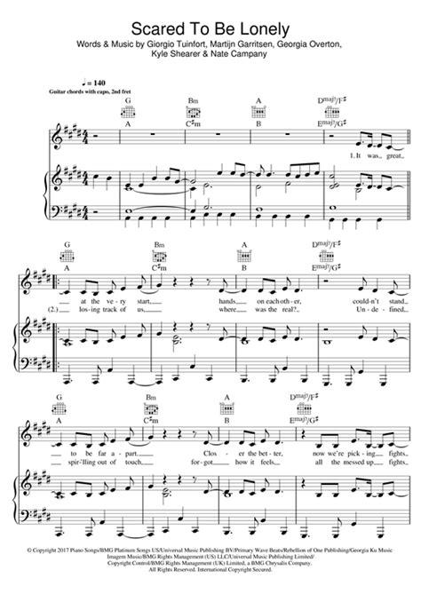 """Martin Garrix & Dua Lipa """"Scared To Be Lonely"""" Sheet Music"""