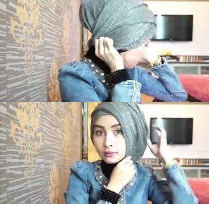 tutorial hijab tanpa peniti menggunakan scarf glitter tutorial hijab tanpa peniti menggunakan scarf glitter