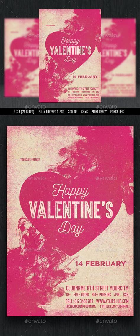 design x 7 love valentines day flyer flyer template template and layout