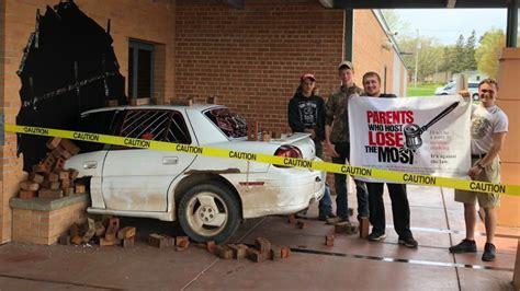 Wisconsin students devise epic fake crash as senior prank
