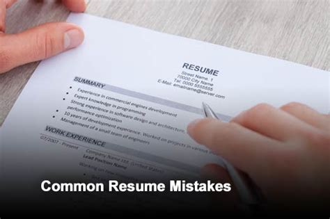 five common resume mistakes and how to fix them