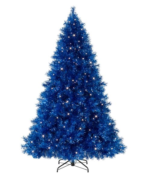 where to put christmas tree sassy sapphire blue tinsel christmas tree treetopia