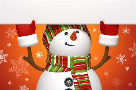 snowman  orange background wallpapers  images wallpapers pictures