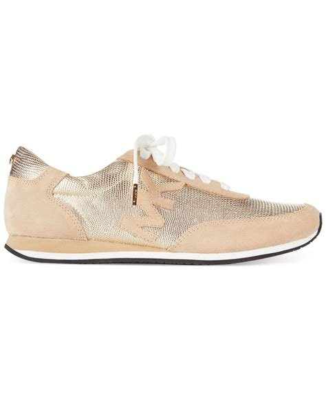 michael kors shoes michael kors michael stanton trainer sneakers in metallic