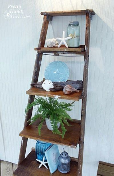 How To Build Ladder Shelf by How To Make Display Shelves Out Of Ladder