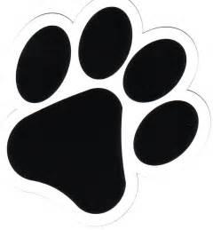 dog paw print logo clipart