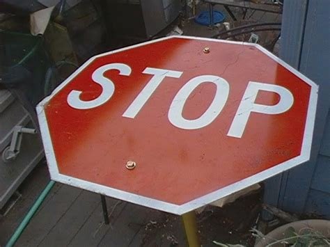 How To Make A Stop Sign Out Of Paper - diy make a bar table out of a stop sign