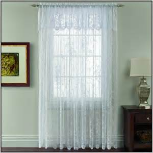 Kitchen Lace Curtains by Sheer Curtains With Valance Attached Curtains Home