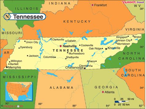 tennesse map show a map of tennessee
