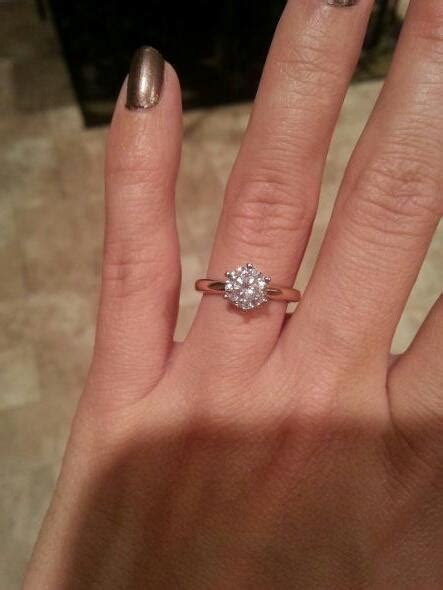 Show Me Your 1.0, 1.5, 2.0 Carat Rings on Size 4 4.5