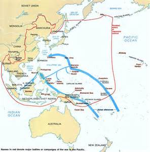 World War Map by Map Of World War Ii In The Pacific