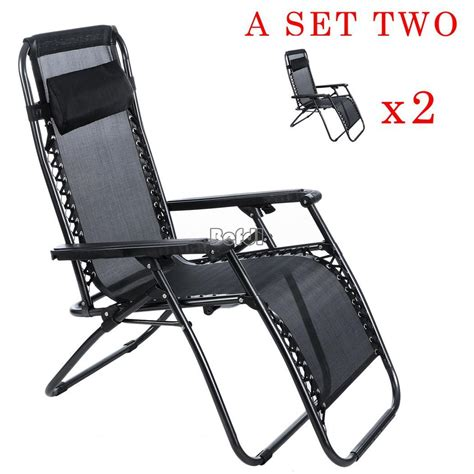 reclining lawn chair ebay 2pcs outdoor garden folding recliner lounge chair