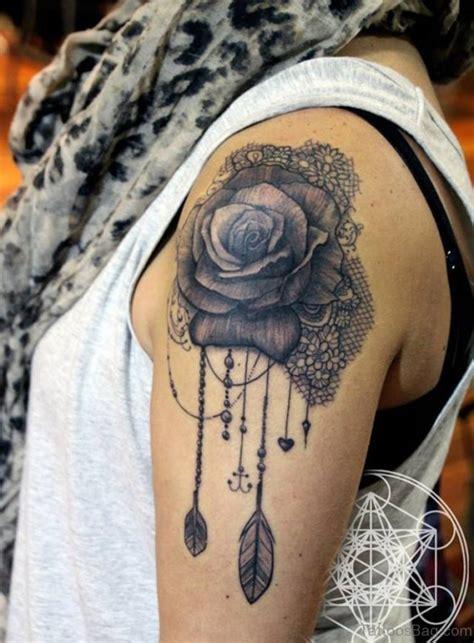 rose tattoo on left shoulder 61 matchless lace shoulder tattoo designs