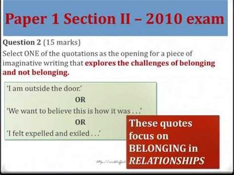 Smart Tips For Hsc English Paper 1 Section 2 Youtube