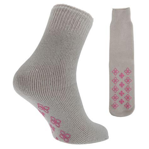 slipper socks womens thermal non skid slipper socks with grip 1