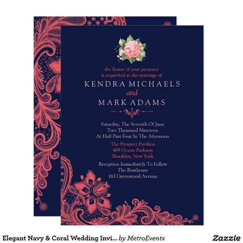 coral and navy wedding invitations 78 ideas about coral wedding invitations on