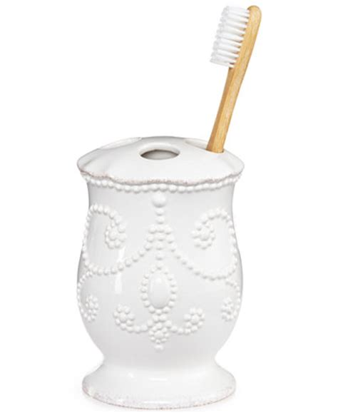 Lenox Bathroom Accessories Lenox Bath Accessories Perle Toothbrush Holder Bathroom Accessories Bed Bath Macy S