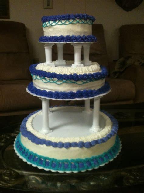 teal  purple wedding cake cakecentralcom
