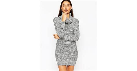 lipsy knitted dress lipsy keegan knitted roll neck bodycon