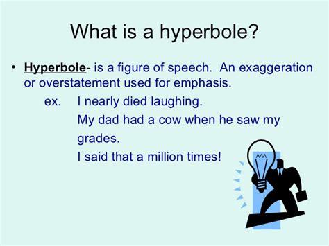 exle of hyperbole hyperbole