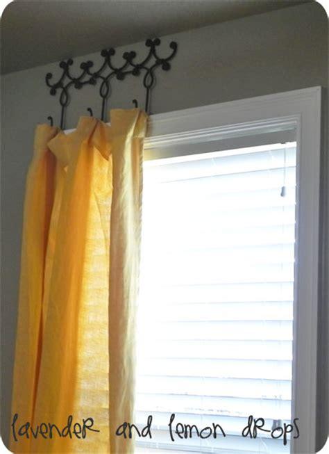 creative diy curtain rods ideas