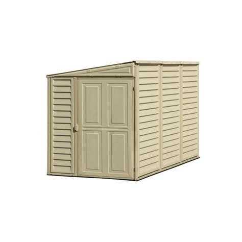 Vinyl Shed Kits by Duramax 4x8 Sidemate Vinyl Shed With Foundation Kit 06625