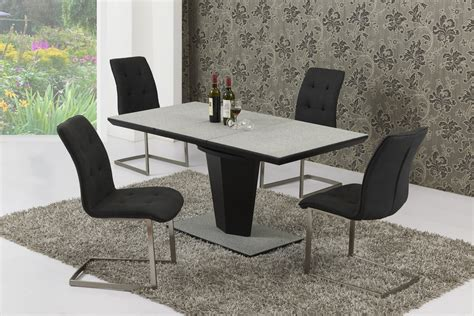 Glass Dining Table For 8 Large Extendable Grey Effect Glass Dining Table 8 Chairs