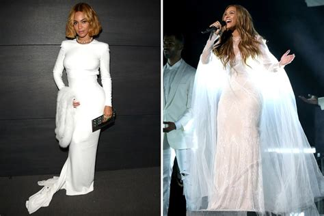 Beyonce Wedding Gown by A History Of Beyonc 233 Wearing Wedding Dresses To Events
