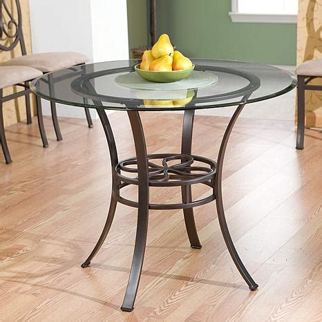 glass top dining table shopping lucianna 38 quot dining table with glass top brown