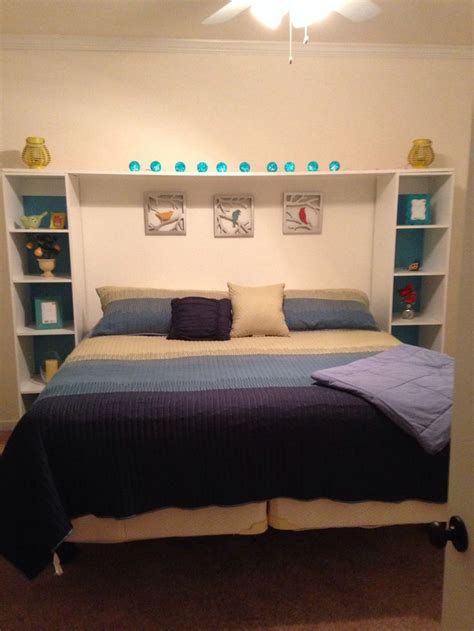 shelf headboard beds