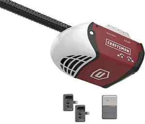 craftsman 1 2 hp chain drive garage door opener with 2