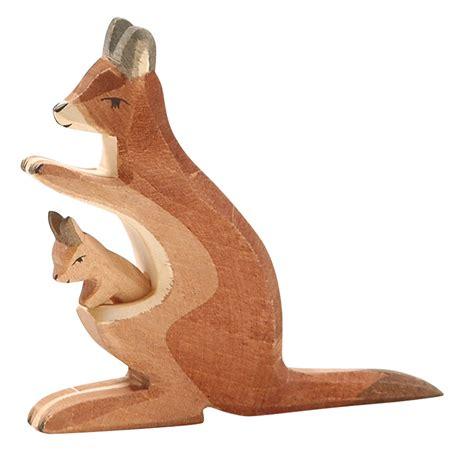 wood kangaroo pattern ostheimer kangaroo with baby