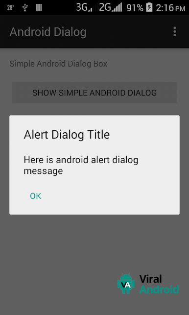 android tutorial easy simple android alert dialog viral android tutorials