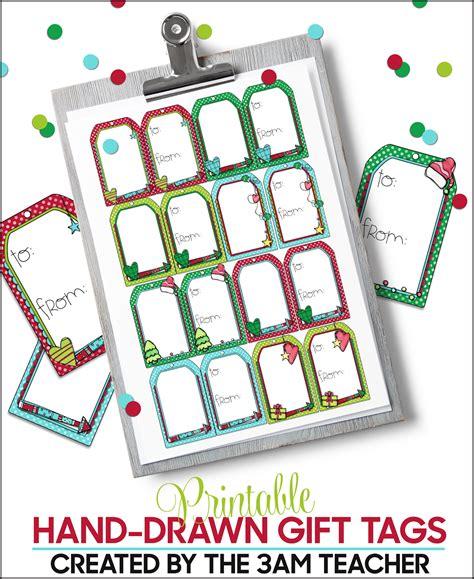 printable christmas tags for teachers the 3am teacher new printable holiday gift tags
