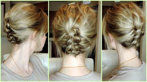 easy braided hairstyles for medium hair youtube easy dutch braid updo for short to medium hair youtube