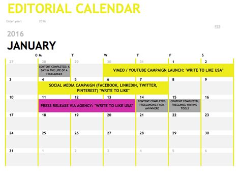 Editorial Calendars Editorial Calendars Perspectives From Industry Experts