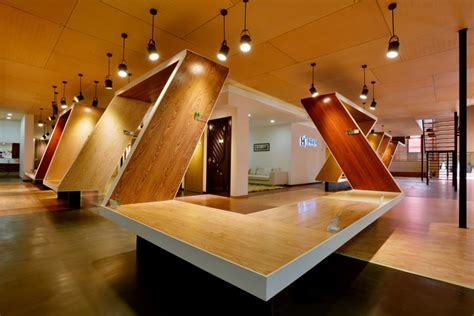 retail design showroom in wood wood structure 187 retail design blog