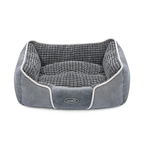 pet r for bed pecute deluxe pet bed for cats and small medium dogs rectangle cuddler with soft