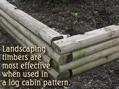 Using Landscape Timbers To Build A Flower Bed Retaining Walls And Backfill