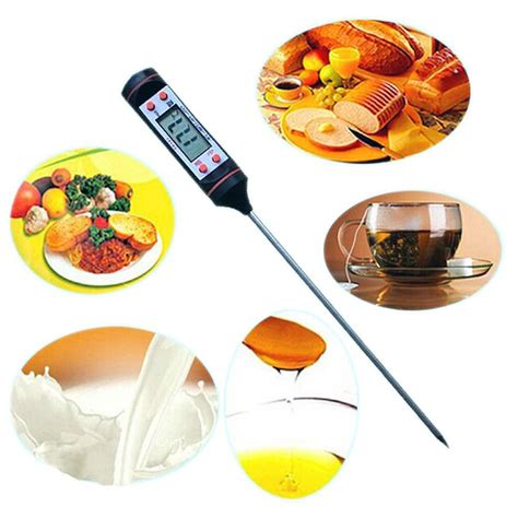 Digital Food Probe Thermometer Tusuk Suhu Makanan Roti Dagi Terlaris digital food thermometer probe temperature kitchen cooking bbq turkey ebay