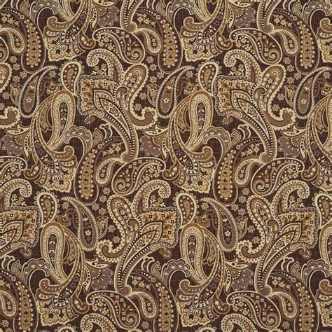 brown paisley upholstery fabric e713 brown and brass woven paisley upholstery fabric