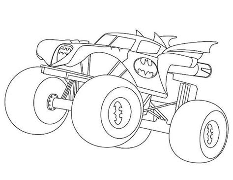 Batman Monster Truck Coloring Page  Kids Play Color sketch template