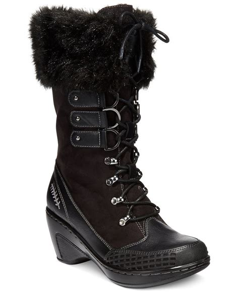 winter boots macys jbu s scandinavia faux fur cold weather boots