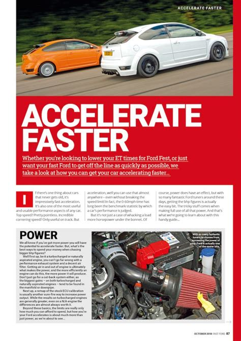 accelerate faster fast ford